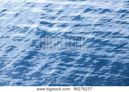 Blue Sea Water Background Texture With Ripple