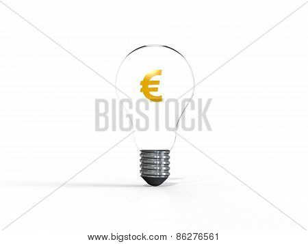 Idea light bulb 3d render