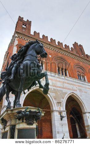 Gothic Palace of Piacenza. Emilia Romagna. Italy.