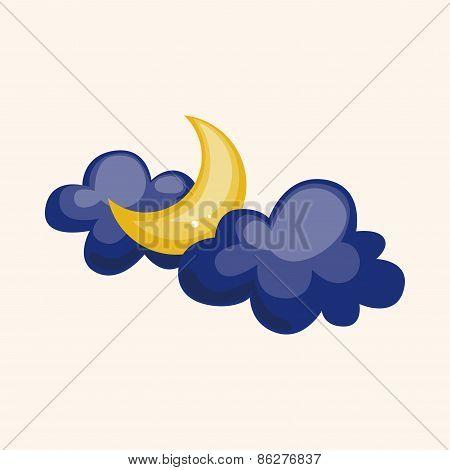 Weather Moon Theme Elements