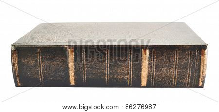 Old wooden cover book