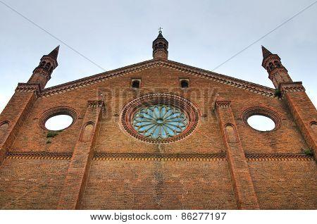 Church of St. Francesco. Piacenza. Emilia Romagna. Italy.