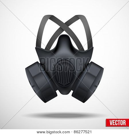 Respirator mask. Vector isolated white background