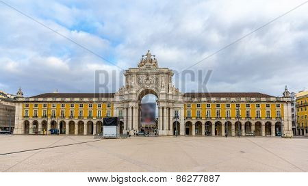 Placa Do Comercio In Lisbon - Portugal