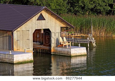 Boathouse For Motorboat.