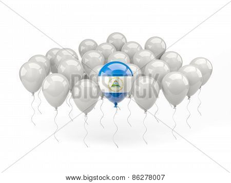 Air Balloons With Flag Of Nicaragua