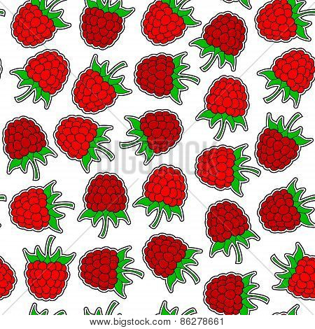 Raspberrys Seamless Background