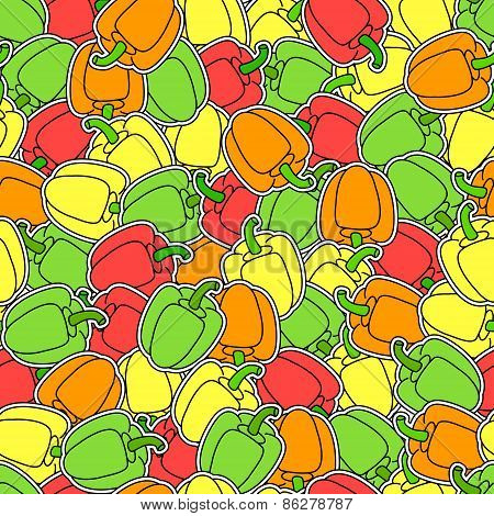 Peppers Seamless Background