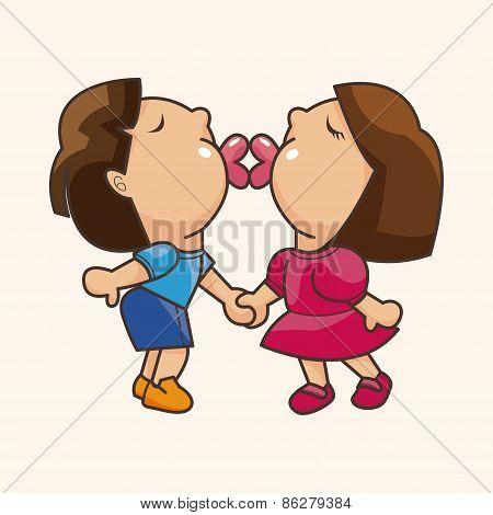 Valentine's Day Couple Theme Elements