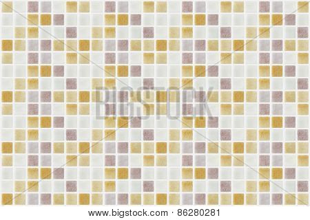 Mosaic Marble Tiles Various Colored Square