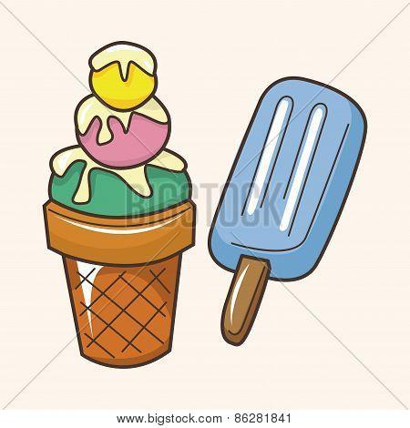 Amusement Park Ice Cream Theme Elements