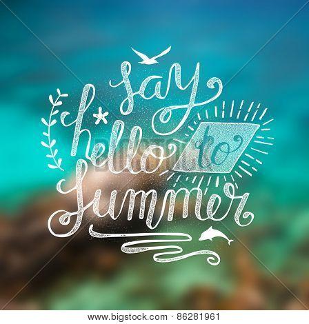 Summer lettering illustration