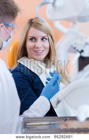 Woman And Dentist