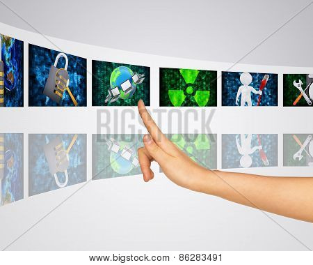 Protection of information. Virtual screens