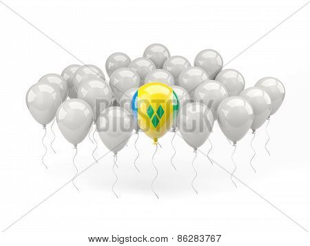 Air Balloons With Flag Of Saint Vincent And The Grenadines