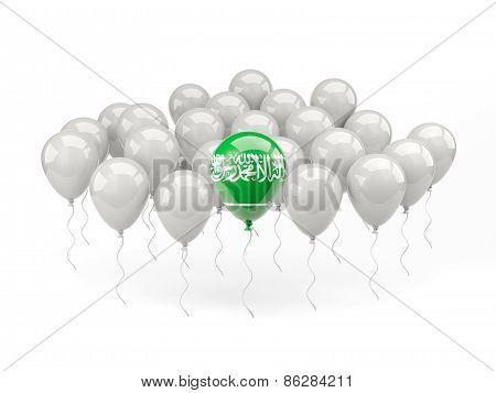 Air Balloons With Flag Of Saudi Arabia
