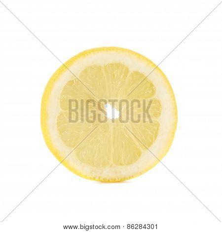 Round lemon slice isolated