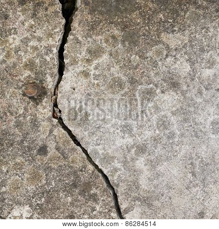 Crack in a concrete wall