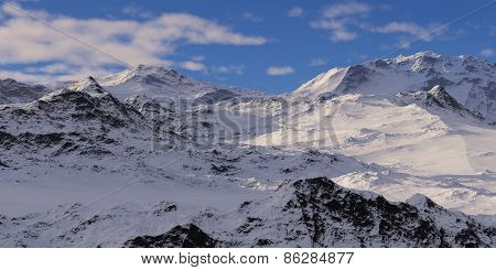 Snowcapped Mountains.