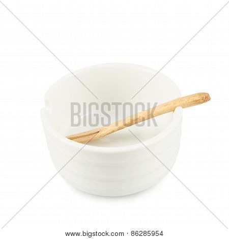 Small glazed ceramic bowl