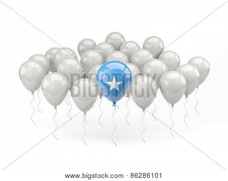 Air Balloons With Flag Of Somalia