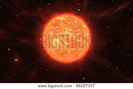 Huge Orange Sun