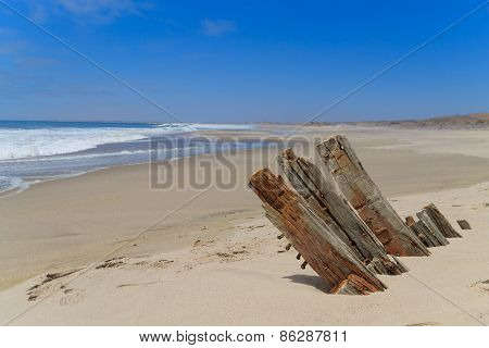 Shipwreck From Skeleton Coast