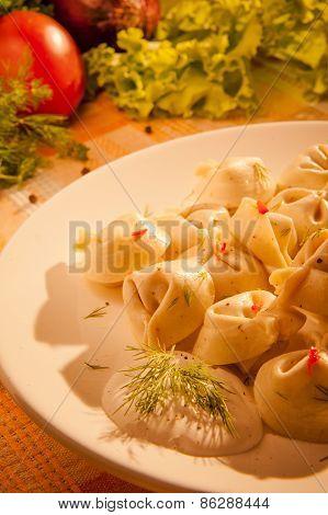 Dumplings On A Plate