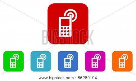 phone vector icon set