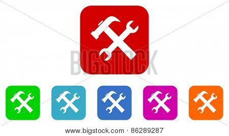 tools vector icons set