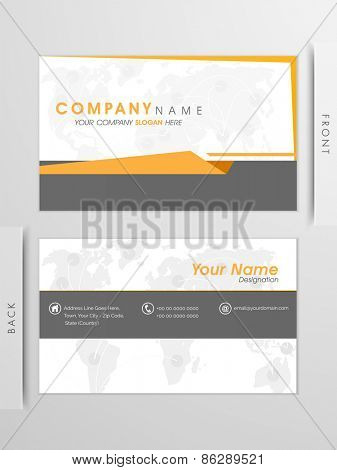 Elegant, Clean, Professional business card and visiting card set with creative yellow and grey lines.