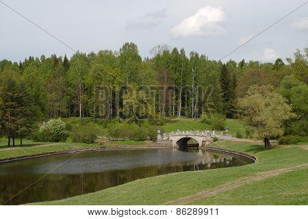Landscape with Lake and Bridge