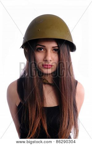 Cute girl with helmet