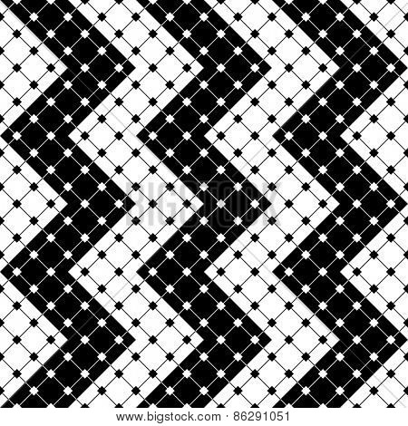 Seamless ZigZag Pattern. Abstract  Monochrome Background. Vector Regular Texture