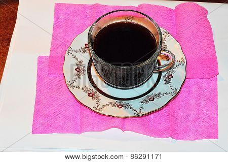 Mug With Coffee, Hot Invigorating Drink
