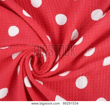 Fragment of a polka dot cloth