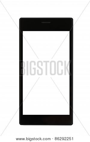 Black Smartphone At White Background