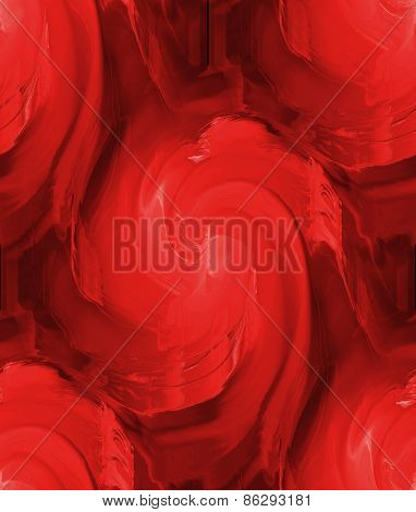 Seamless Red Textured Pattern