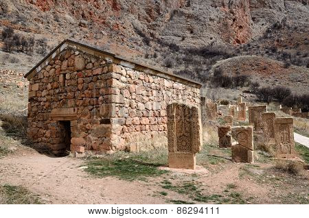 Surb Grigor's Chapel And Khachkars Of Noravank Monastery,armenia, Caucasus, Unesco World Heritage
