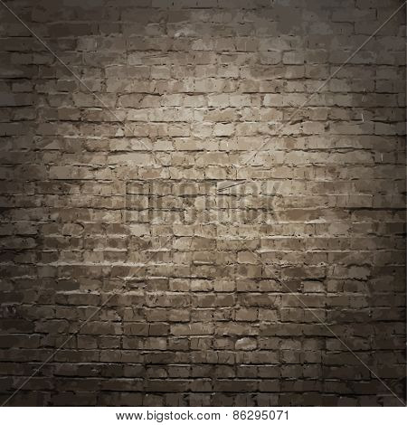 old brick wall texture, vector