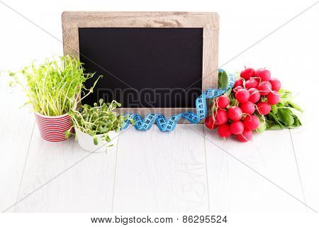 boarder with fresh vegetables - fruits and vegetables