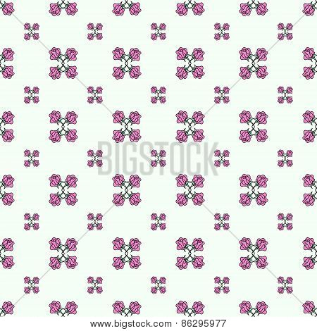 Rose seamless vector pattern background