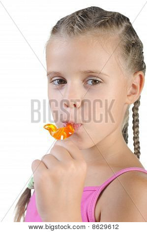 Girl With Candy.