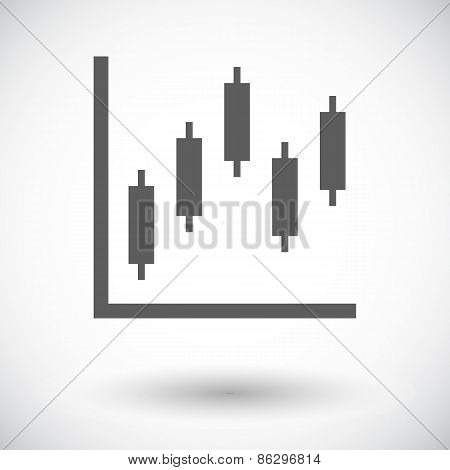 Graph flat single icon.