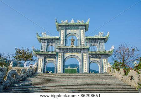 Gate at Linh Ung Pagoda in Da Nang, Vietnam