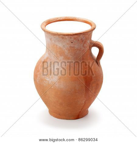 Clay Pitcher Filled With Milk