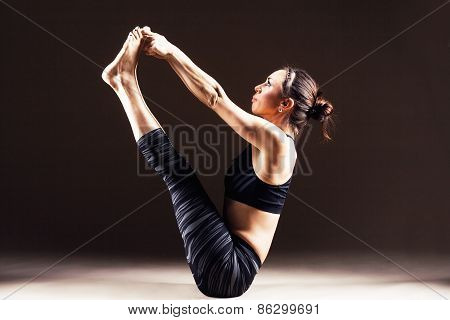 Sporty Woman Is Working Out