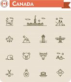 image of wigwams  - Set of the Canada traveling related icons - JPG