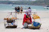 foto of peddlers  - Rayong Koh Samet Thailand  - JPG
