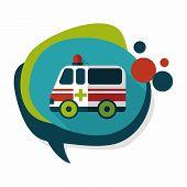 stock photo of ambulance car  - ambulance car flat icon with long shadoweps10ambulance car flat icon with long shadoweps10 - JPG